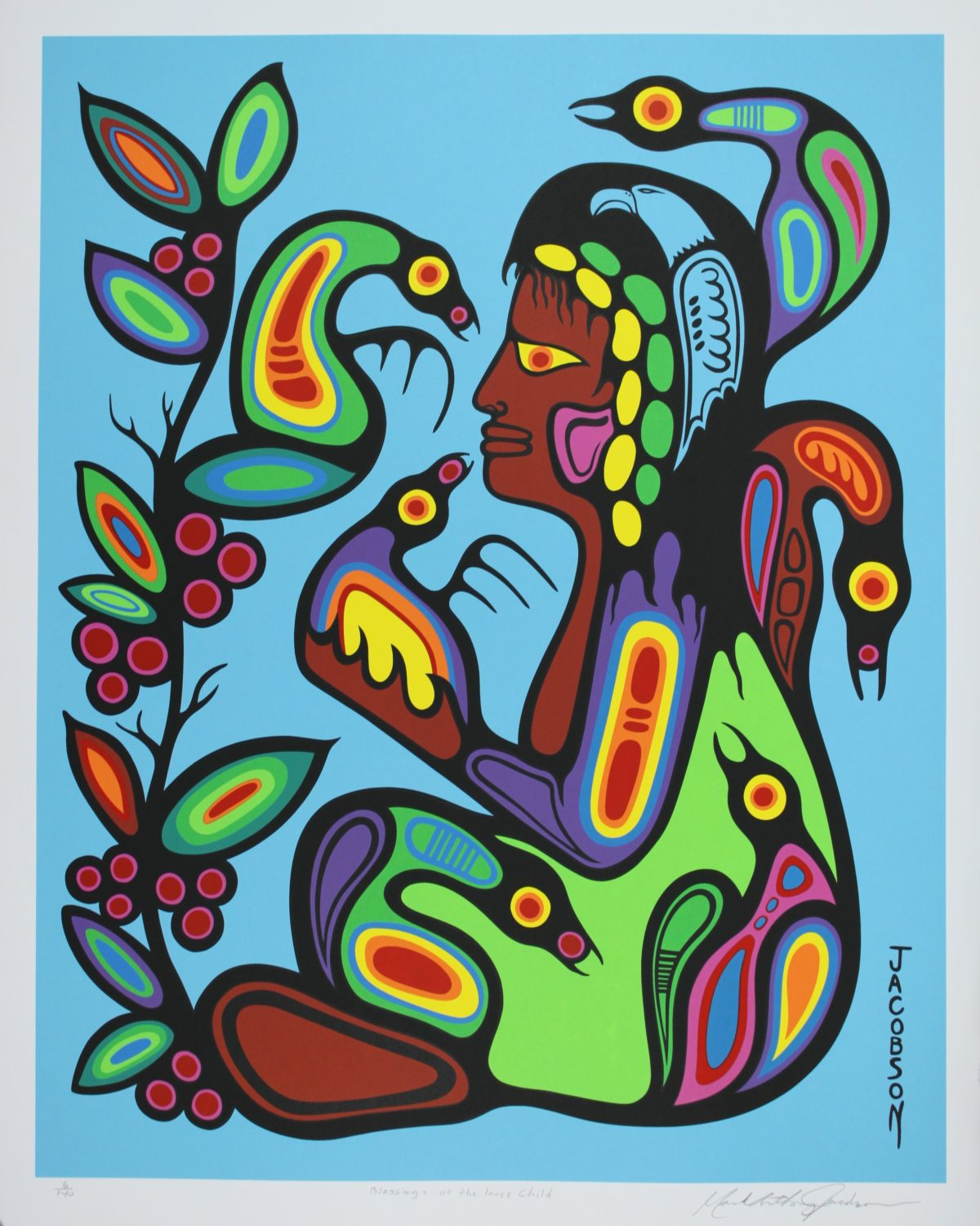 Blessings Of The Inner Child, Native Print, Mark Anthony Jacobson