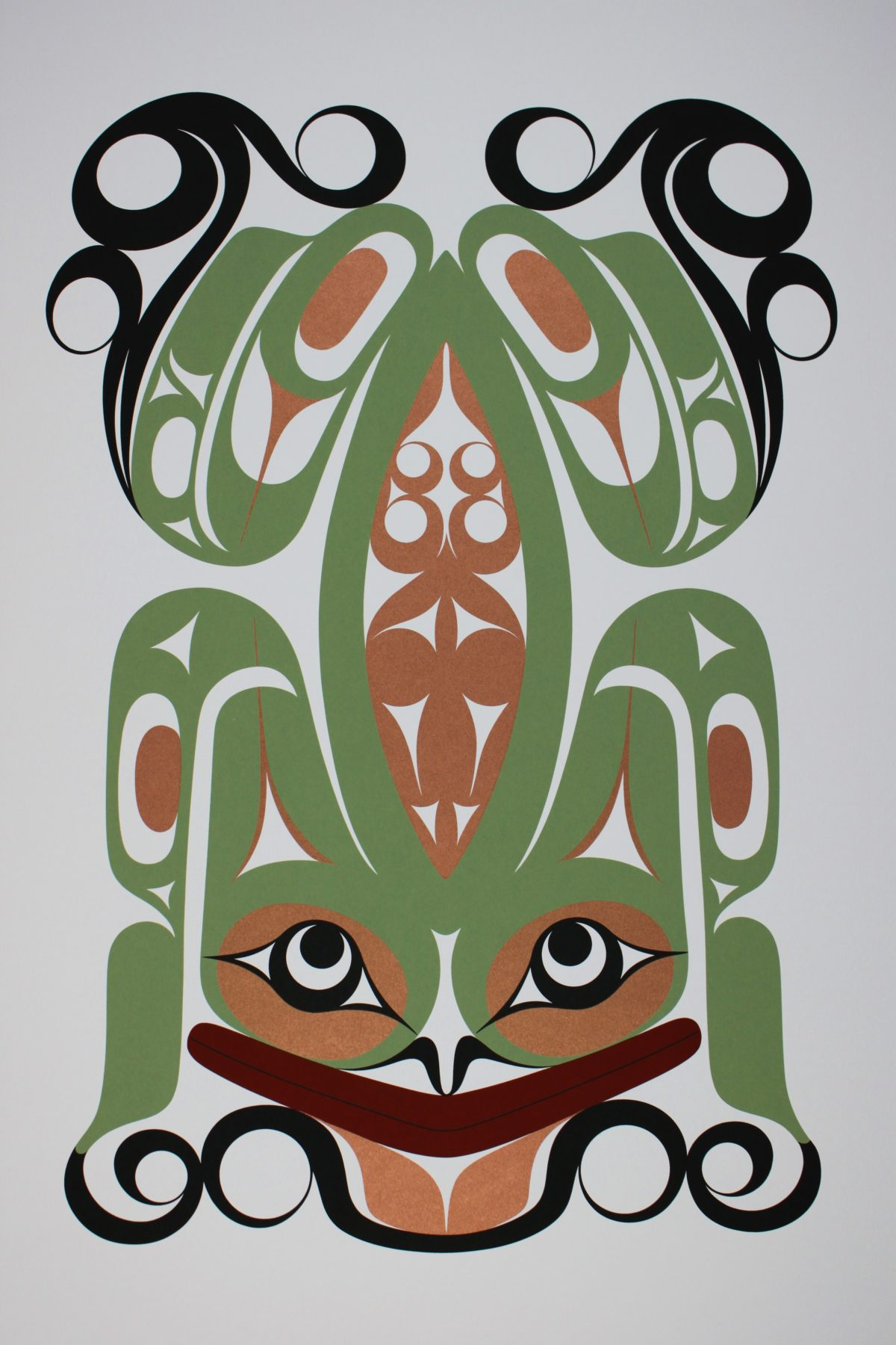 Wak'es (Frog), Francis Dick, Native Print, Limited Edition Screen Print, Serigraph