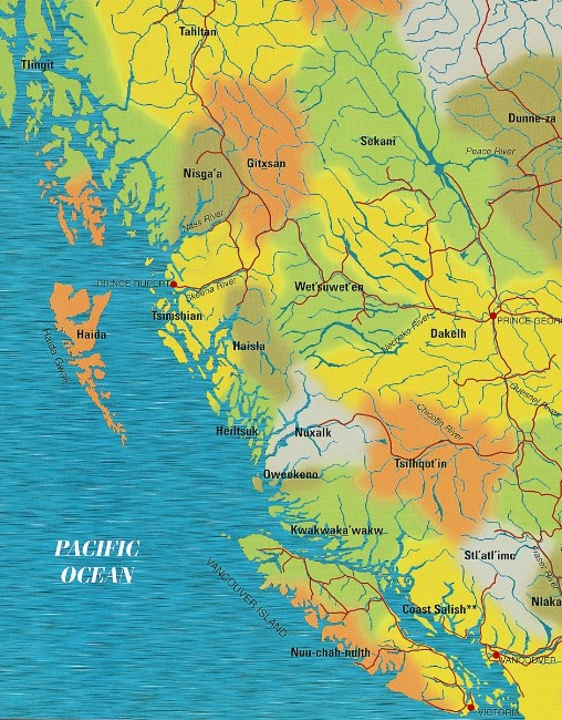 First Nations Map, Northwest coast, Native Art, Aboriginal, Indigenous, Northwest Coast, First Nations, Native American